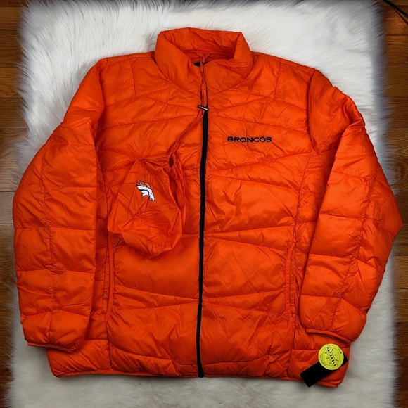 super popular e280e ace75 Denver Broncos NFL Puffer Jacket Big Man 5XL Boutique